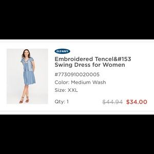 Old Navy embroidered swing dress